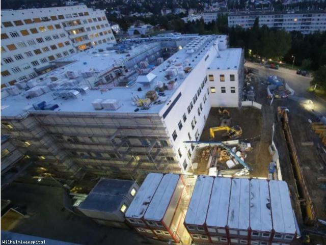 ELIN Referenz-Projekt-Bild: Wilhelminenspital Pav. 81 -  CADOLTO Containerspital als Übergangslösung