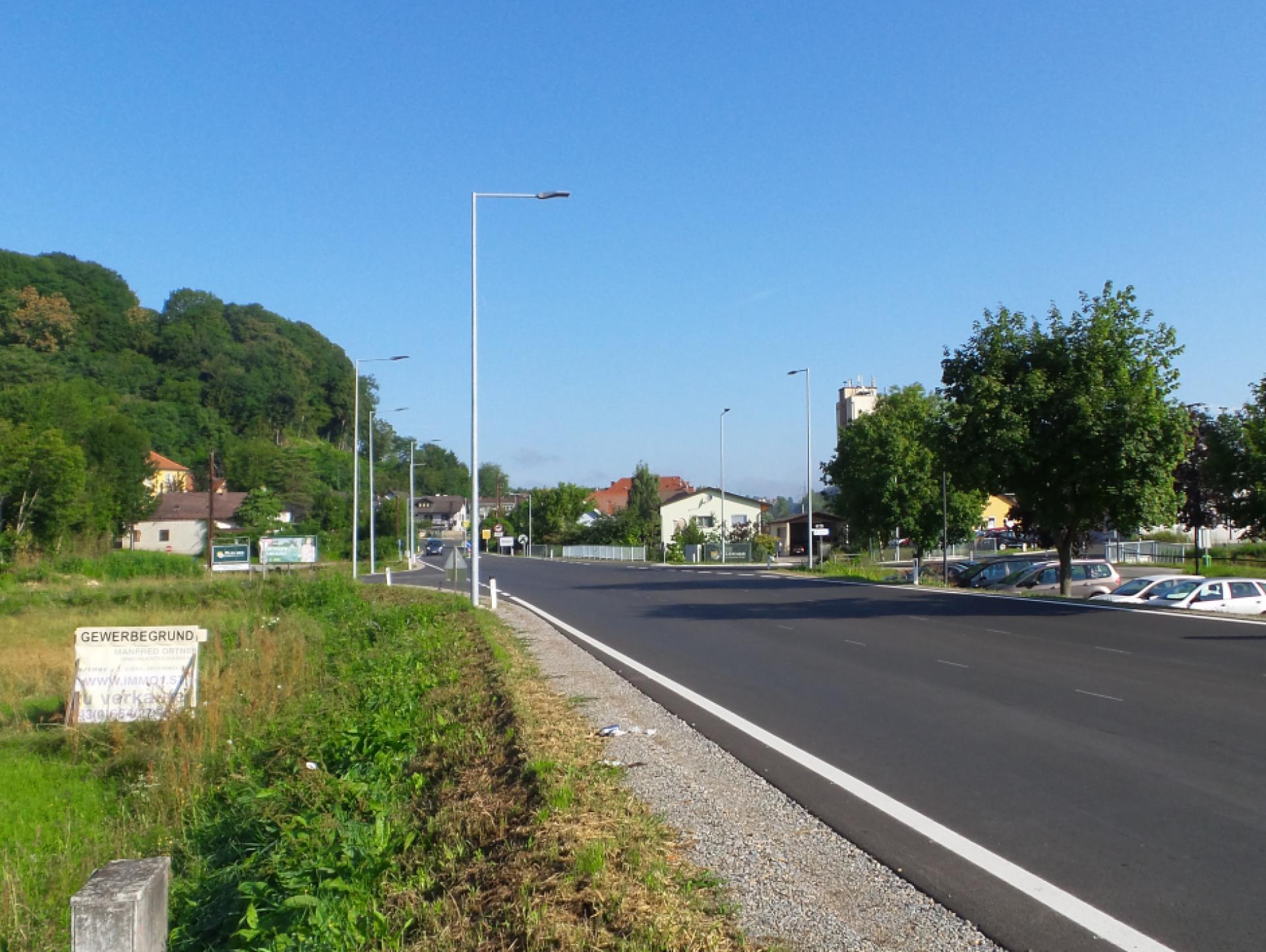 Mood-Image ELIN Referenz: Straßenbeleuchtungsanlage für neuen Links-Abbieger auf der B67 in Wildon