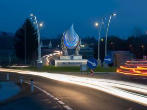 ELIN Referenz Bild: Kreisverkehrbeleuchtung Bad Waltersdorf