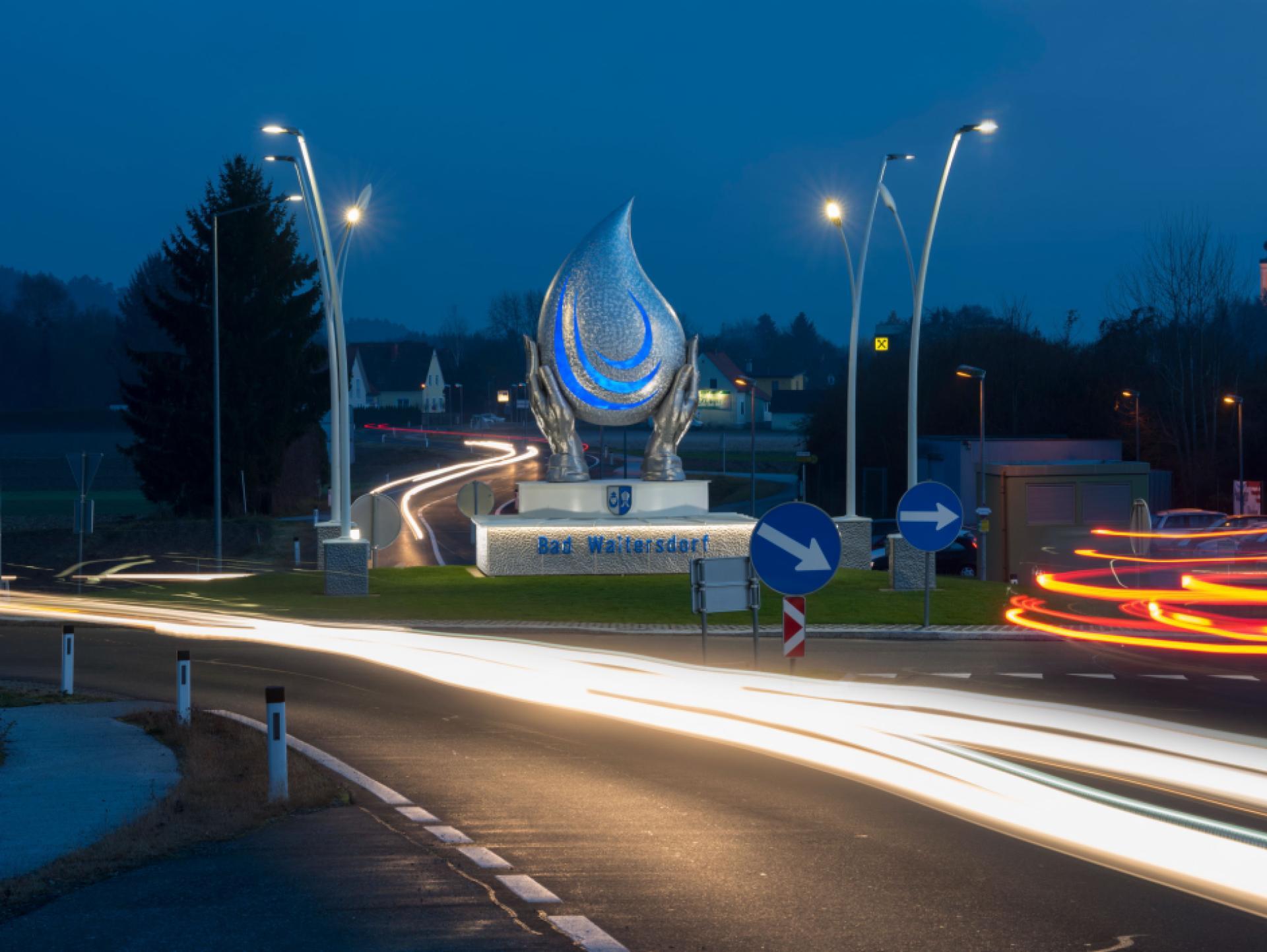 Mood-Image ELIN Referenz: Kreisverkehrbeleuchtung Bad Waltersdorf