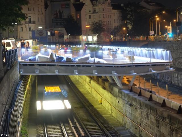 ELIN Referenz-Projekt-Bild: Wientalterrasse und Brücke Errichtung einer Effektbeleuchtung