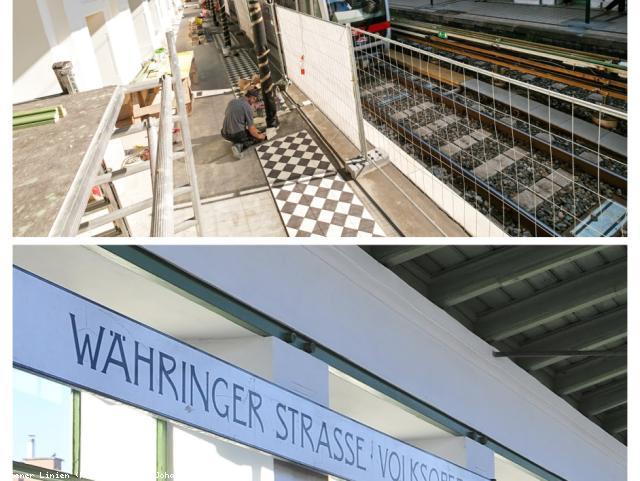 ELIN Referenz-Projekt-Bild: Elektroinstallationsarbeiten für die Generalsanierung der U6 Station Währingerstrasse
