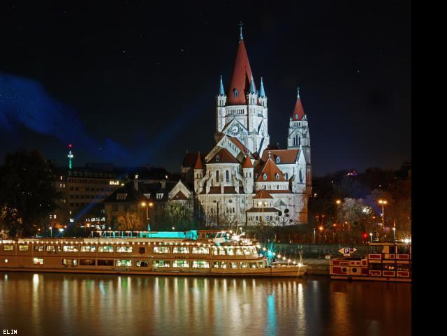 ELIN Referenz-Projekt-Bild: Öffentliche Lichtinstallationen Raum Wien - 2017