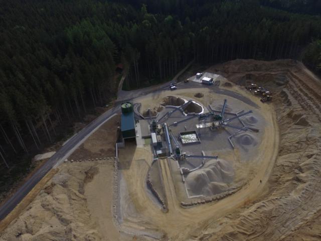 EBG Referenz-Projekt-Bild: Kiesaufbereitungsanlage Niederndorfer