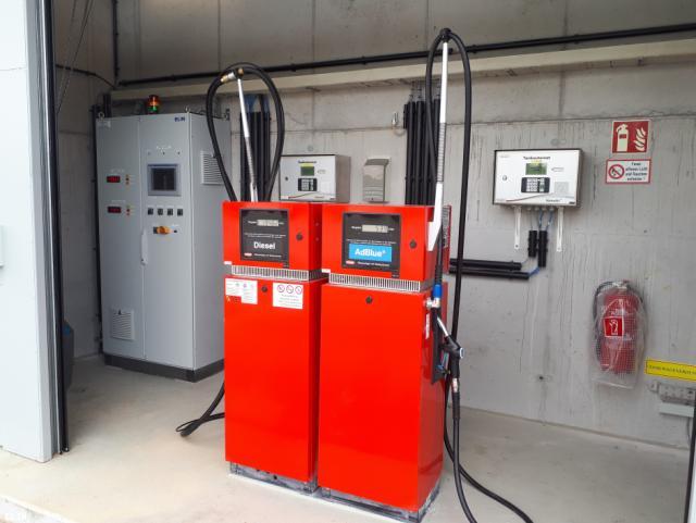 ELIN Referenz-Projekt-Bild: Tankstelle Busparkplatz Siebenhirten