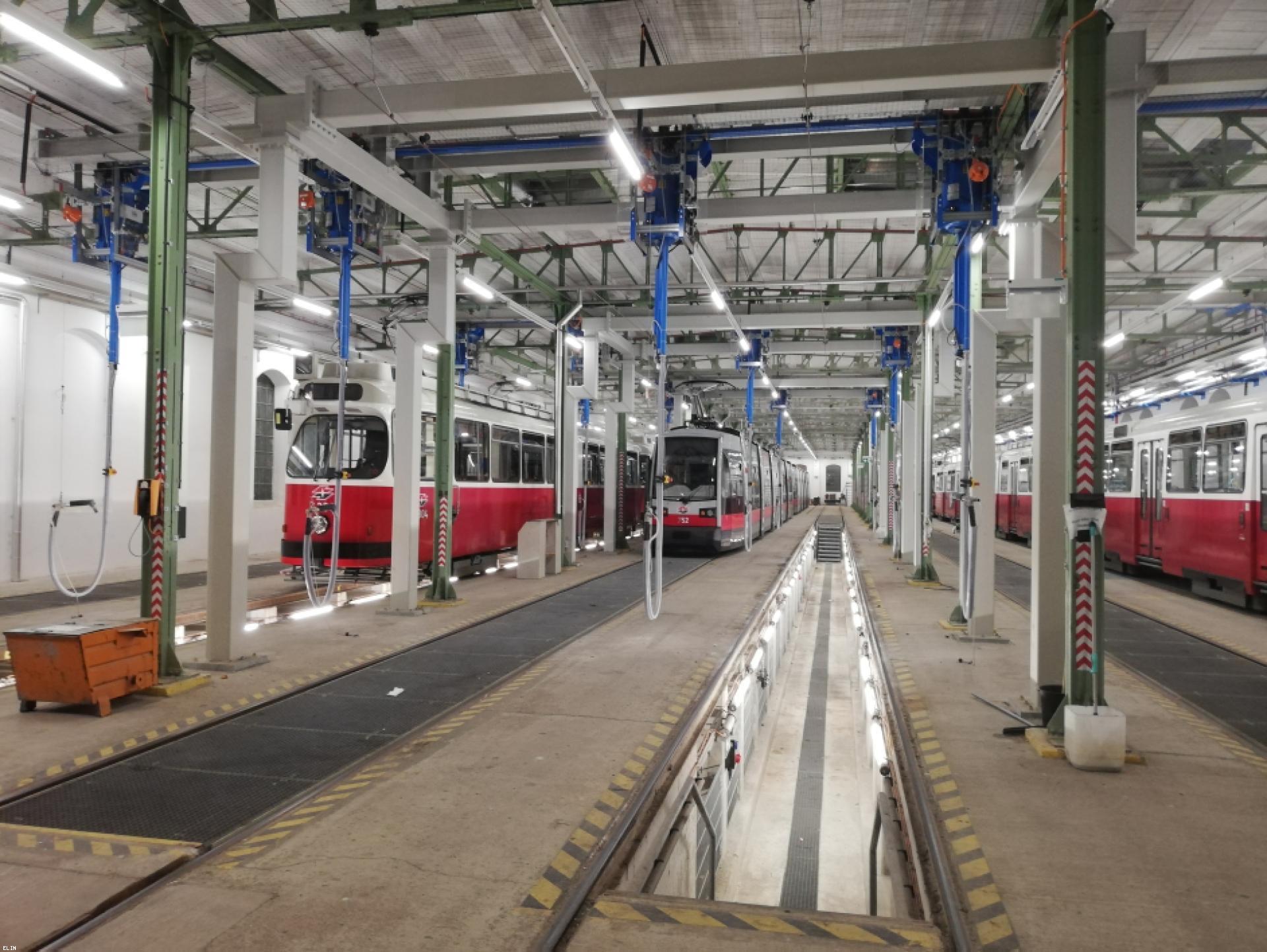Mood-Image ELIN Referenz: Umbau des Bahnhofes Simmering im Zuge des Projektes Remise 2.0