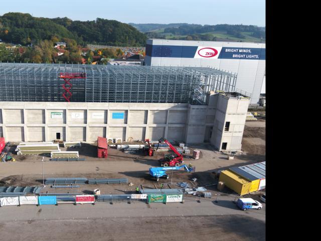 EBG Referenz-Projekt-Bild: ZKW Lichtsysteme - Neubau DMS-Lager