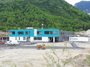 EBG Referenz Bild: Neubau Büro und Logistikhalle - Schenker Bad Ischl